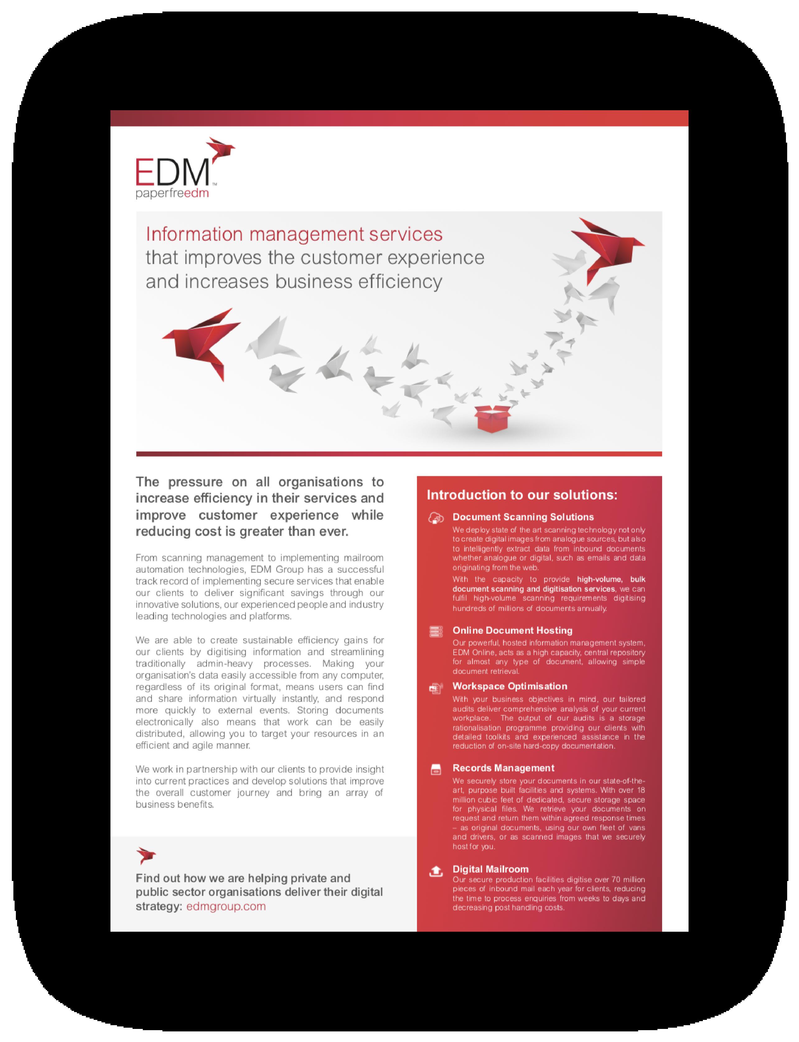 Information Management Services Fact Sheet