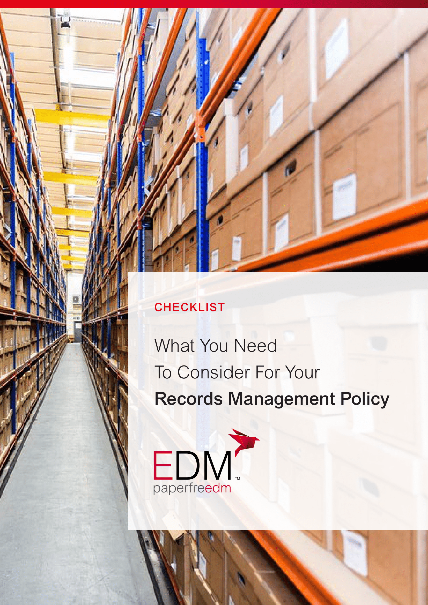 Checklist: What you need to consider for your records management policy