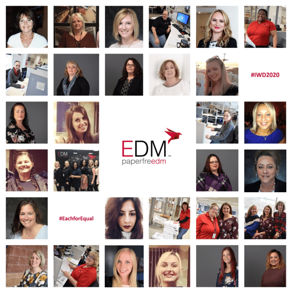 EDM celebrates International Women's Day 2020 #IWD2020